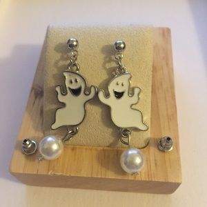 Jewelry - ARRIVED! Cute Ghost Earrings with Faux Pearls